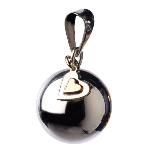 PREGNANCY BOLA Color: PLATA CON CORAZON COLGANDO